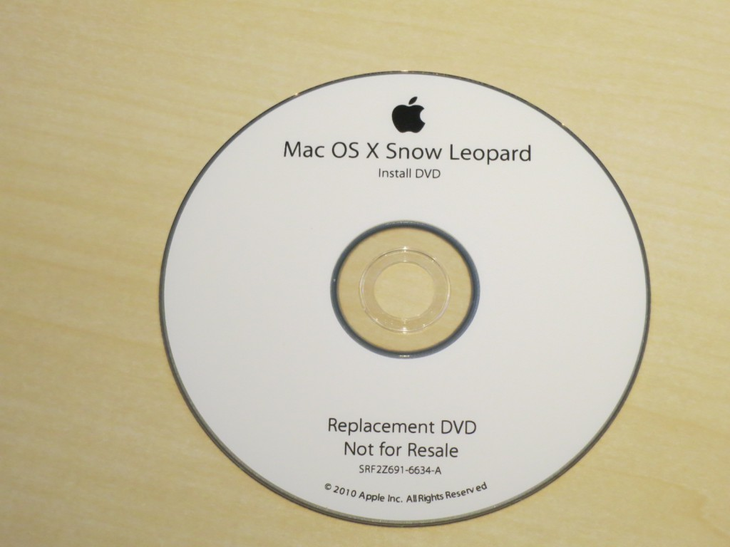 MAC OS10.6 SNOW LEOPARD アップデートディスク