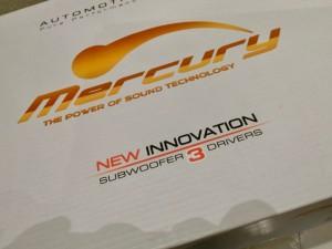 アンプ内蔵ウーハー mercury mcr805