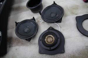 ベンツ用 ドアスピーカー インナーバッフル アップグレード セット