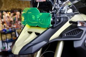 F800GS/F700GS ヘッドライトガード 集光アクリル イエロー