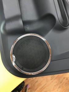 アクア スピーカー交換 mercury c62 ツイーター埋込 ホットワイヤード アウターバッフル