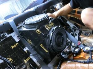 R35 GTR 純正BOSE サブウーハー交換 ホットワイヤード 名古屋