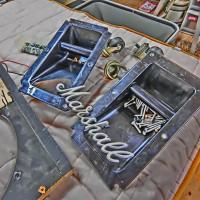 MARSHALL キャビネット 改造 2発 クラプトン 補強 オーバーホール 1960 チューンナップ