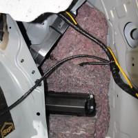 CX-8 BOSE サブウーハー 交換 パワードウーハー スペアタイヤ型 カーゴスペース フロア デッドニング クオーター 吸音材 断熱材