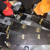 CX-8 BOSE サブウーハー 交換 パワードウーハー スペアタイヤ型 カーゴスペース フロア デッドニング 吸音材 断熱材 HOT WIRED 名古屋