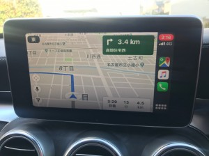 W205 BENZ Cクラス CarPlay ANDROID AUTO 外部入力 AUX ACTIVATE 有効化 コーディング HOT WIRED 名古屋