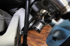 buell ビューエル ステアリングダンパー ステアリングすたびらい steering stabilizer damper xb12s diy mod