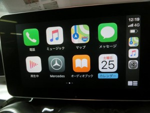 W205 BENZ ベンツ Cクラス 外部入力 有効化 コーディング CarPlay インターフェース ミラーリング 後付け カープレイ