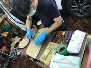 コロナ対策 消毒 マスク フェイスシールド ハンドルカバー シートカバー 海外製消毒液 シフトカバー 養生