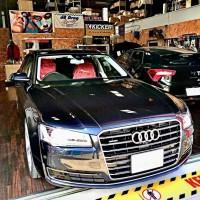 Audi A8 AUDI純正BOSE スピーカー交換 デッドニング HOT WIRED 名古屋 カーオーディオ