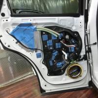 CX-5 正しいドアのデッドニングのやり方 制振 防音 静音 STP HOT WIRED ホットワイヤード 名古屋 車内の静音化 カーオーディオ スピーカー交換 BOSE リアルシルト