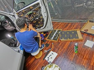 CX-5 正しいドアのデッドニングのやり方 制振 防音 静音 STP HOT WIRED ホットワイヤード 名古屋 車内の静音化 カーオーディオ スピーカー交換 BOSE DYNAMAT