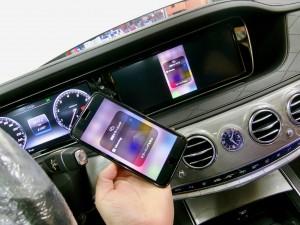 W222 W205 W213 NGT5.5 NTG5.0 NTG4.7 NTG4.5 後付けCarPlay ワイヤレスCarPlay ワイヤレスミラーリング AndroidAuto CarPlayインターフェース CarPlayモジュール Apple CarPlay iPhone ディスプレイオーディオ コーディング 有効化
