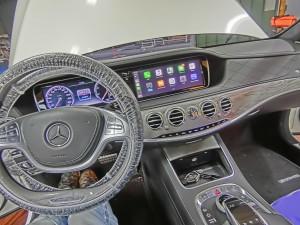 W222 Sクラス W205 W213 NGT5.5 NTG5.0 NTG4.7 NTG4.5 後付けCarPlay ワイヤレスCarPlay ワイヤレスミラーリング AndroidAuto CarPlayインターフェース CarPlayモジュール Apple CarPlay iPhone ディスプレイオーディオ ベンツ コーディング 名古屋 Sクラス