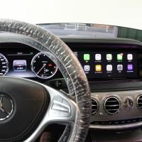 W222 Sクラス 前期 W205 W213 NGT5.5 NTG5.0 NTG4.7 NTG4.5 後付けCarPlay ワイヤレスCarPlay ワイヤレスミラーリング AndroidAuto CarPlayインターフェース CarPlayモジュール Apple CarPlay iPhone ディスプレイオーディオ HOT WIRED 名古屋