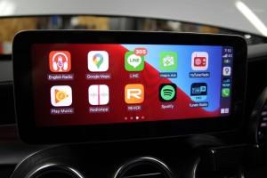10.25インチ ベンツ Cクラス W205 アンドロイド Apple CarPlay 4G YOUTUBE ミラーリング モニター交換 ナビ交換 ナビ取付 SIM iPhone GOOGLE
