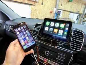 GLE NTG5S1 ベンツ 後付けCarPlay AndroidAuto 有効化 コーディング Apple CarPlay ホットワイヤード 名古屋 カープレイ