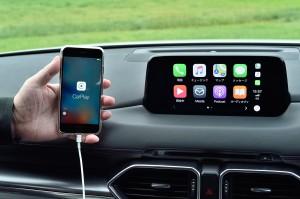 マツダ純正 CarPlay ワイヤレス化 ワイヤレスCarPlay ワイヤレスミラーリング 無線化 マツコネ用 ワイヤレスCarPlayドングル 動画再生 YOUTUBE