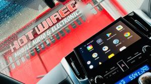 アルファード ワイヤレス CarPlay アンドロイドBOX VISIT ANDOROID Netflix FULU プライムビデオ AMAZON YOUTUBE グーグルマップ 動画再生 リアモニター HDMI