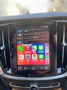 volvo sensus ボルボ 純正ナビ センサス Apple CarPlay ワイヤレス ミラーリング ドングル youtube 動画再生 外部入力 ワイヤレスCarPlay Hulu Netflix HOT WIRED グーグルマップ amazon