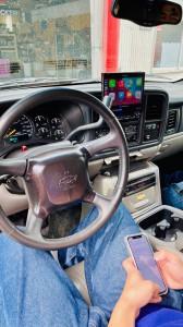 HUMMER H2 ワイヤレスCarPlay ミラーリング YOUTUBE Android Auto 汎用 後付け HDMI ビデオ入力 タホ サバーバン エスカレード アメ車 グーグルマップ AMAZON ハンズフリー