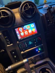 HUMMER H2 ワイヤレスCarPlay ミラーリング YOUTUBE Android Auto 汎用 後付け HDMI ビデオ入力 タホ サバーバン エスカレード アメ車 グーグルマップ AMAZON iPhone