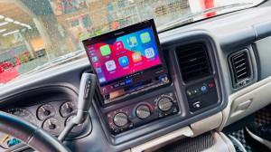 HUMMER H2 ワイヤレスCarPlay ミラーリング YOUTUBE Android Auto 汎用 後付け HDMI ビデオ入力 タホ サバーバン エスカレード アメ車 グーグルマップ AMAZON