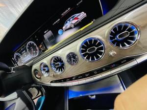 W222 タービンルック エアコン吹き出し口 LED アンビエントライト 連動 電動ロータリー3Dツイーター 取付方 ベンツ Sクラス