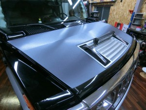 HUMMER H2 ボンネット ラッピング 3M カッティングシート 部分ラッピング 名古屋