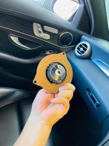 ベンツ ドアスピーカー スピーカー交換 ツイーター追加 ツイーター交換 音質向上 ブルメスター コーディング イージーエントリー シート退避 有効化 Mercury Car Audio Audible Physics RAM2 M40 インナーバッフル デッドニング W205 W213 W222 Cクラス Eクラス Sクラス HOT WIRED 名古屋 愛知