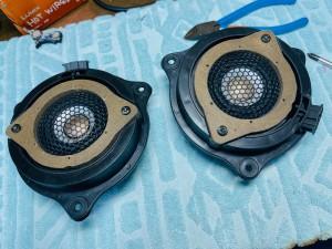 Audi A6 BOSE スピーカー交換 スコーカー ツイーター 後付けCarPlay 音質向上 ウーハー B&O