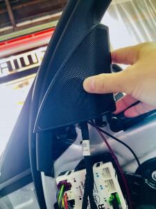 ベンツ 純正スピーカー ドアスピーカー スピーカー交換 ツイーター Audible Physics RAM2 デッドニング ツイーターがない 音質向上 W205 W222 W213 GLC Sクラス Cクラス Eクラス Gクラス ブルメスター BURMESTER  音質改善 カーオーディオ 純正ナビ 名古屋