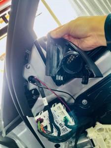 ベンツ 純正スピーカー ドアスピーカー スピーカー交換 ツイーター Audible Physics RAM2 デッドニング ツイーターがない 音質向上 W205 W222 W213 GLC Sクラス Cクラス Eクラス Gクラス ブルメスター BURMESTER  音質改善 カーオーディオ 純正ナビ 名古屋 ツイーター取付