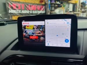 マツダ マツコネ CarPlay カープレイ 動画再生 アンドロイド Youtube Netflix プライムビデオ  アンドロイドBOX 2画面表示