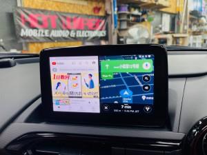 マツダ マツコネ CarPlay カープレイ 動画再生 アンドロイド Youtube Netflix プライムビデオ  アンドロイドBOX 2画面