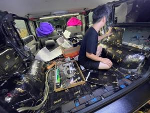SUV 四駆 トランク カーゴスライド キャンパー 車中泊 ベッド スライド 引き出し ミニバン HUMMER H2 デッドニング 断熱材 吸音