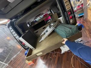 SUV 四駆 トランク カーゴスライド キャンパー 車中泊 ベッド スライド 引き出し ミニバン HUMMER H2