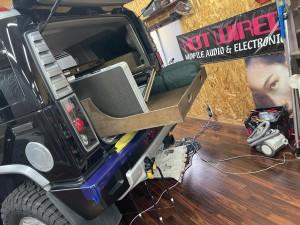 SUV 四駆 トランク カーゴスライド キャンパー 車中泊 ベッド スライド 引き出し ミニバン HUMMER H2 デッドニング 断熱材 吸音 CARGO SLIDE TRUCK BED